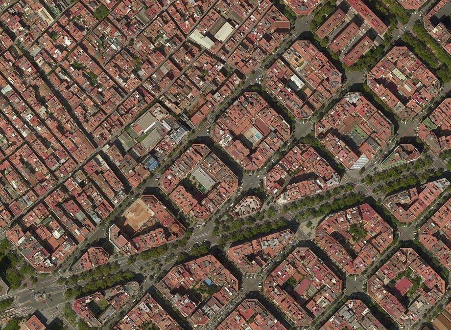 Bonavista street, where Eixample meets Gracia neighbourhood